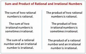 Rational And Irrational Numbers  Examples  Solutions