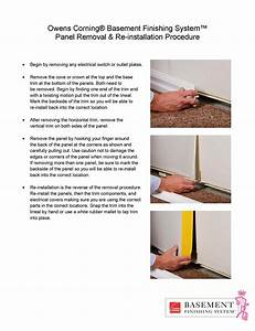 Owens Corning Basement Finishing System Wall Panel Removal
