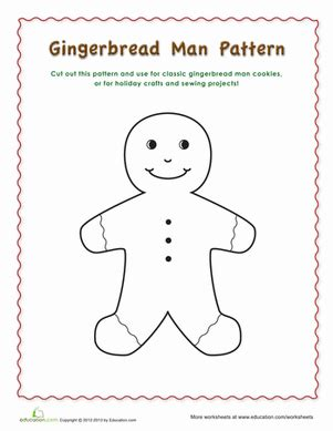 gingerbread man pattern worksheet educationcom