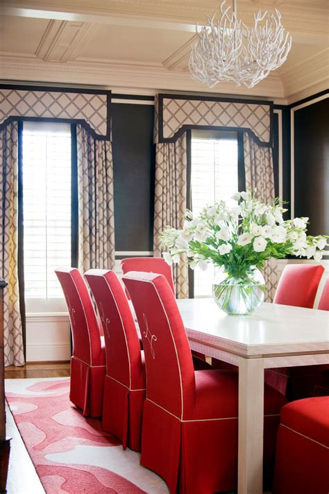pretty parson chairs in dining room traditional with