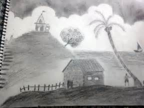 Landscape Pencil Shading Drawings