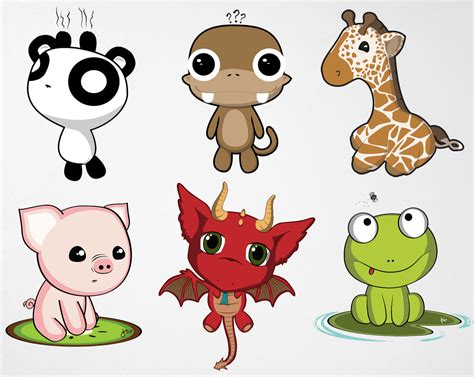 Cute Anime Chibi Animals Drawings