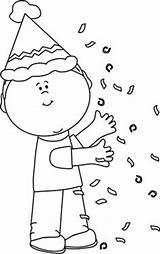 Birthday Confetti Clip Clipart Coloring Kid Nursery Boy Children Penny Teacher Stamp Rubber Dellosa Carson Cake Printable Template Classroom Projects sketch template