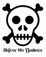 Skull Pirate Printable Crossbones Coloring Timbers Shiver Sweeps4bloggers sketch template
