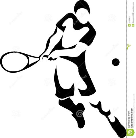 tennis player clipart black and white tennis stock images image 33569914
