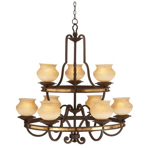 Two Tier Chandelier by Durango Two Tier Chandelier 9 Light
