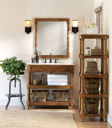 cuartos de bano rusticos  ideas  madera  piedra