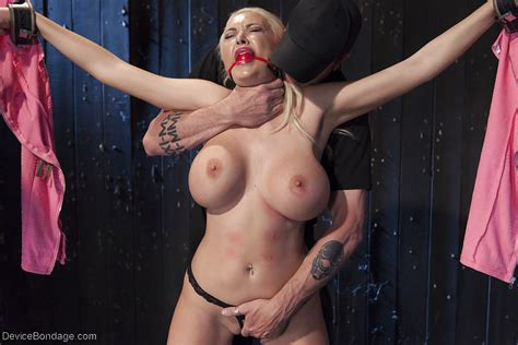 Busty Blonde Pornstar Summer Brielle Taking Rough Bdsm Sex