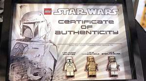 Lego Solid 14k Gold And Sterling Silver Boba Fett