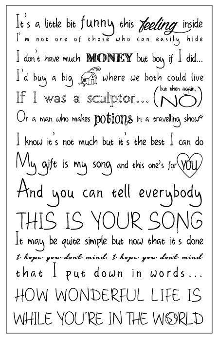 The One Elton Testo - 25 best ideas about elton lyrics on