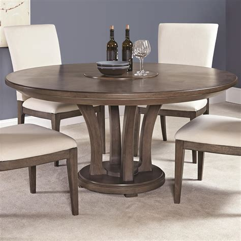 Contemporary 62inch Round Dining Table With Trestle Base