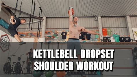 kettlebell shoulder workout drop workouts cavemantraining caveman strength routines