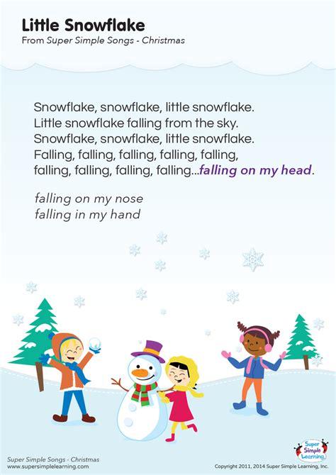 snowflake lyrics poster super simple