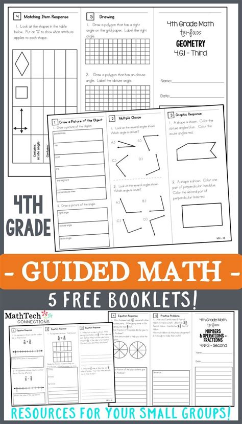 4th grade math trifolds 5 free booklets 5th grade