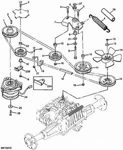 I Need A Diagram Of The Routing Of A Drive Belt On A 1997 345 John Deere Riding Mower
