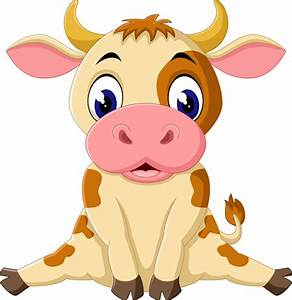 Cartoon baby cow vector illustration 07 - Vector Animal ...