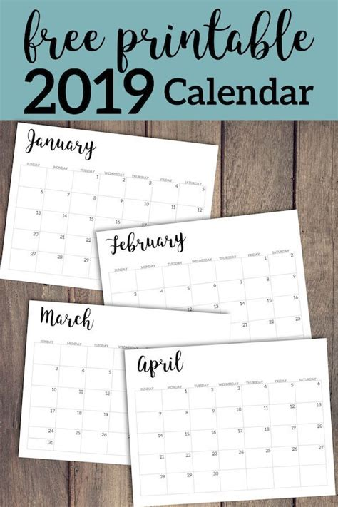 calendar printable template lists