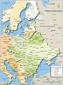 Political Map of Central and Eastern Europe - Nations ...