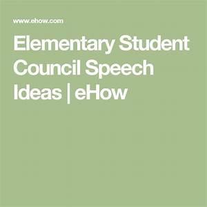 25 Best Ideas About Student Council Speech On Pinterest