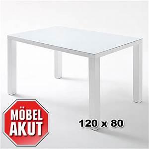 Tisch 80 X 120 Ausziehbar : esstisch ice tisch esszimmertisch wei hochglanz lackeirt glas 120x80 ebay ~ Bigdaddyawards.com Haus und Dekorationen