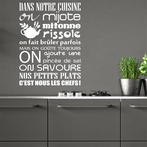 stickers citations cuisine sticker citation dans notre cuisine on mijote