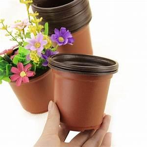 50, pcs, 4, u0026quot, , plastic, plants, nursery, pot, , pots, seedlings, flower, plant, container, seed, starting, pots