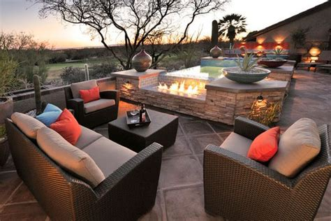 eye catching modern outdoor fireplaces turn the patio