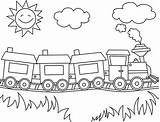 Train Cartoon Drawing Coloring Tracks Pages Getdrawings sketch template