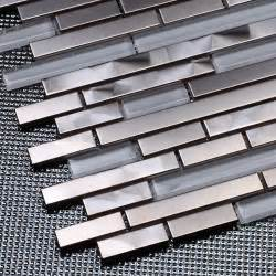 stainless steel kitchen backsplash panels aliexpress buy silver stainless steel mixed white glass mosaic tiles for kitchen