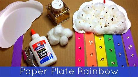 paper plate rainbow preschool and kindergarten craft 303 | maxresdefault