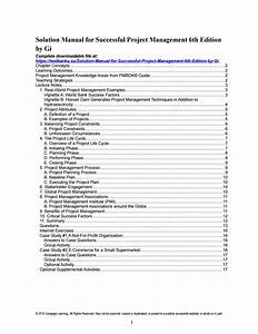 Solution Manual For Successful Project Management 6th