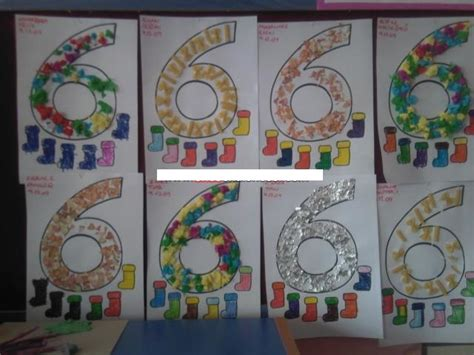 crafts actvities and worksheets for preschool toddler and 978 | number 6 craft