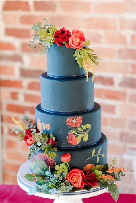 bold colorful wedding ideas   detail
