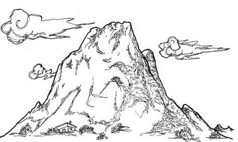 Dibujos de paisajes de montaña para colorear Colorear