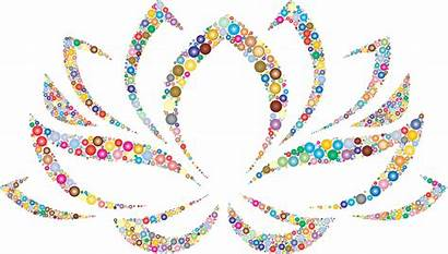 Lotus Flower Colorful Circles Clipart Svg