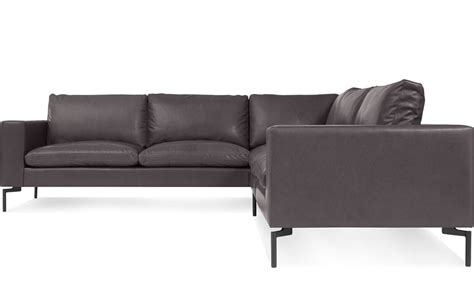 compact leather sectional sofa new standard small sectional leather sofa hivemodern com