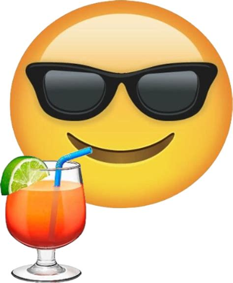 drink emoji quot sunglasses and drink emoji sticker quot stickers by mia