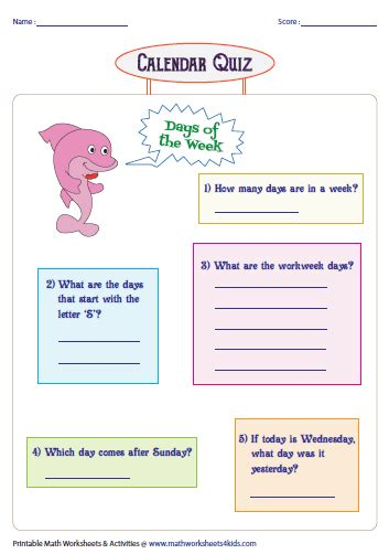 days months  seasons charts  worksheets