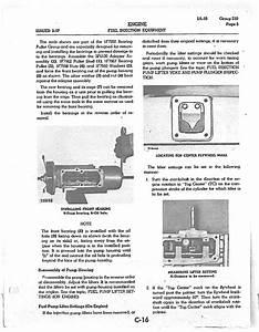 How Do I Adjust Injector Pump Plungers On D7e Dozer S  N