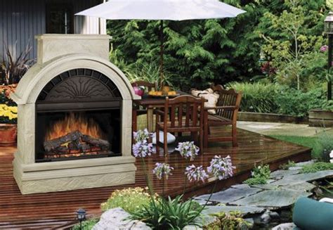 outdoor electric fireplace   Sunrooms/Porches/Patios