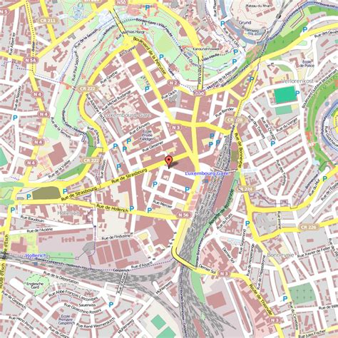 map  luxembourg city toursmapscom