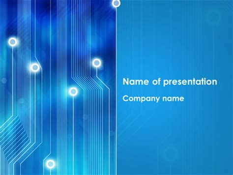 circuit template picture blue circuit powerpoint template backgrounds 08400