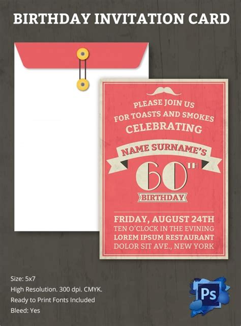 sample birthday invitation template  documents