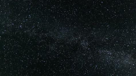 Dark Astronomy Starry Night Sky With Stars And Milky Way
