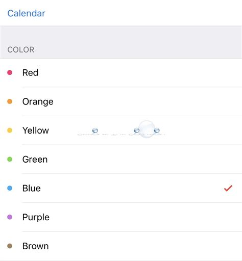 how to change the color on your iphone how to iphone change calendar color