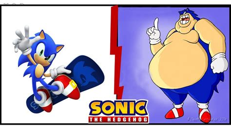 Sonic Characters As Fat