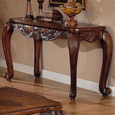 how to a console table brown wood console table a sofa furniture