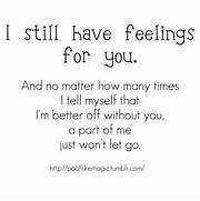 still have feelings fo...