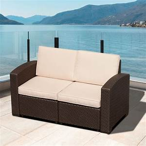Outsunny, Rattan, Style, Resin, Wicker, Outdoor, Furniture, Loveseat, -, Patio, Chairs