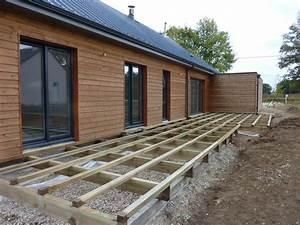 pose d une terrasse en bois sur sol meuble wasuk With pose d une terrasse en bois sur sol meuble